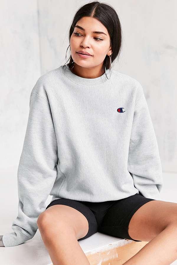 Champion Grey Reverse Weave Pullover Sweatshirt Urban