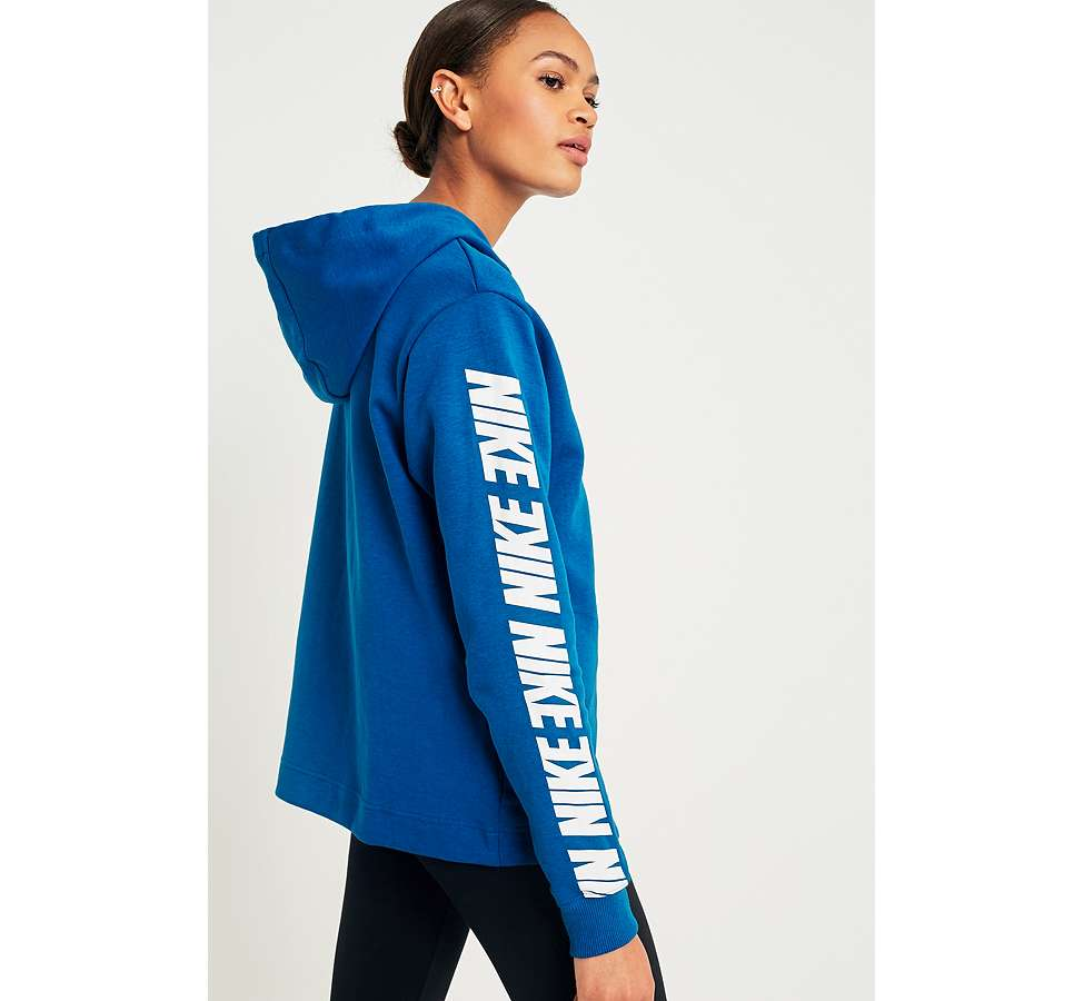 Slide View: 2: Nike Sportswear - Sweat à capuche bleu Advance 15