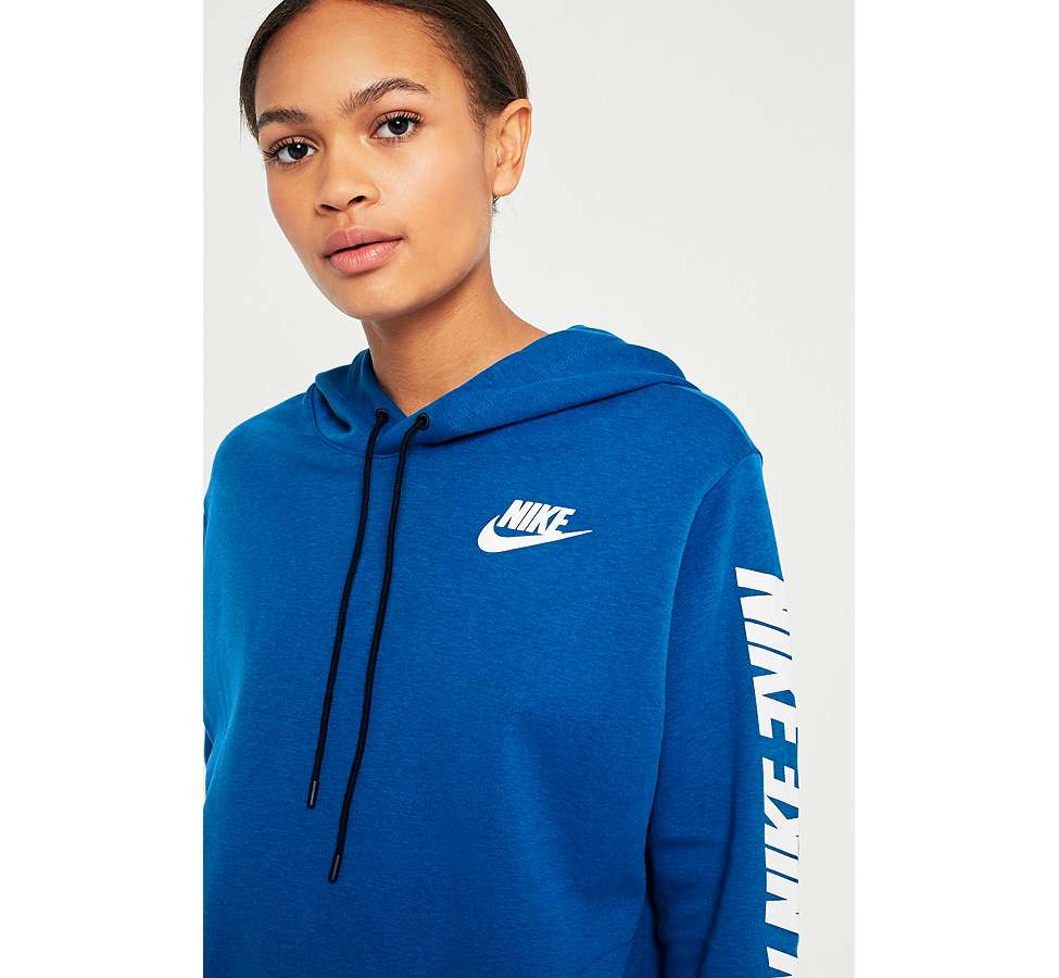 Slide View: 3: Nike Sportswear - Sweat à capuche bleu Advance 15