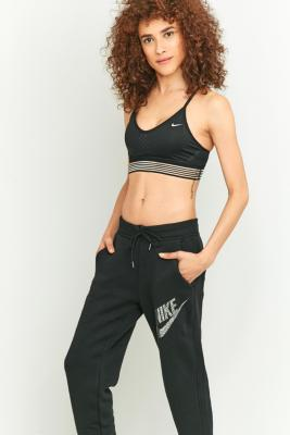 Nike Indy Black Mesh Sports Bra Black