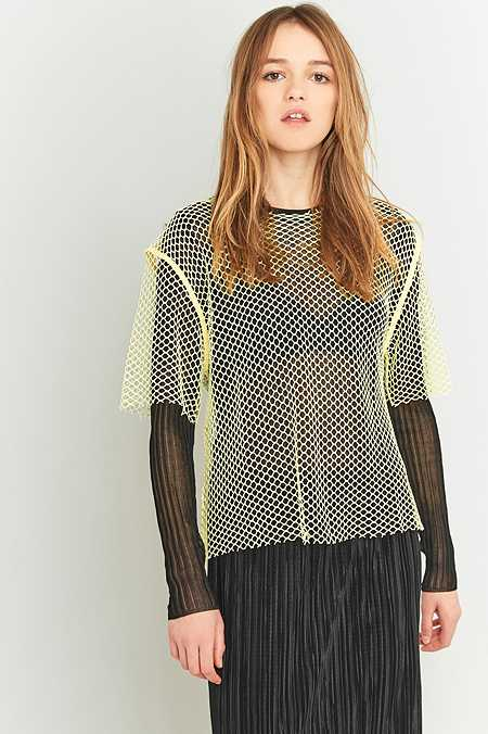 MM6 Overized Neon Mesh Top