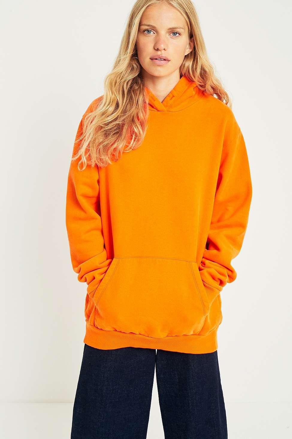 MM6 Back Detail Oversized Hoodie, Orange