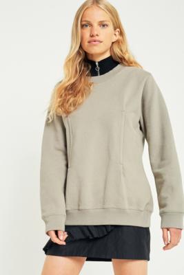 MM6 Maison Margiela - MM6 Seamed Taupe Sweatshirt, Taupe