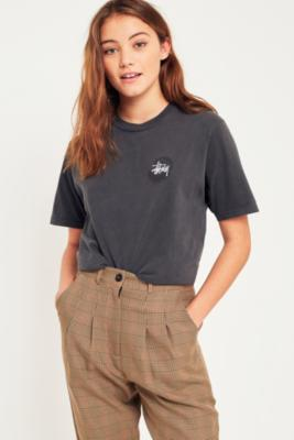 Stussy - Stussy Tie-Dye Swirl Black T-Shirt, Black