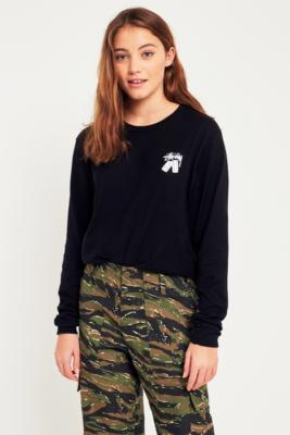 Stussy - Stussy Dominos Black Long Sleeve T-Shirt, Black