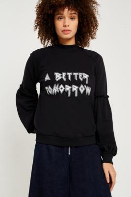 Gestuz - Gestuz Brooke A Better Tomorrow Black Sweatshirt, Black