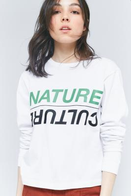 Perks And Mini - Perks And Mini Nature Culture Long Sleeve T-Shirt, White