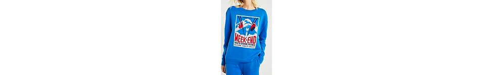 "Thumbnail View 2: J.won – Pullover ""Le Weekend"" in französischem Style in Blau"