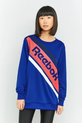 Reebok - Reebok Blue Logo Stripe Sweatshirt, Blue