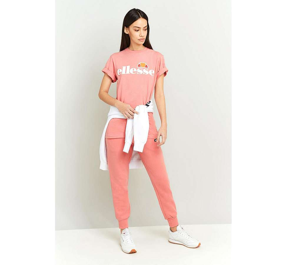 Slide View: 5: Ellesse Albany Pink T-Shirt