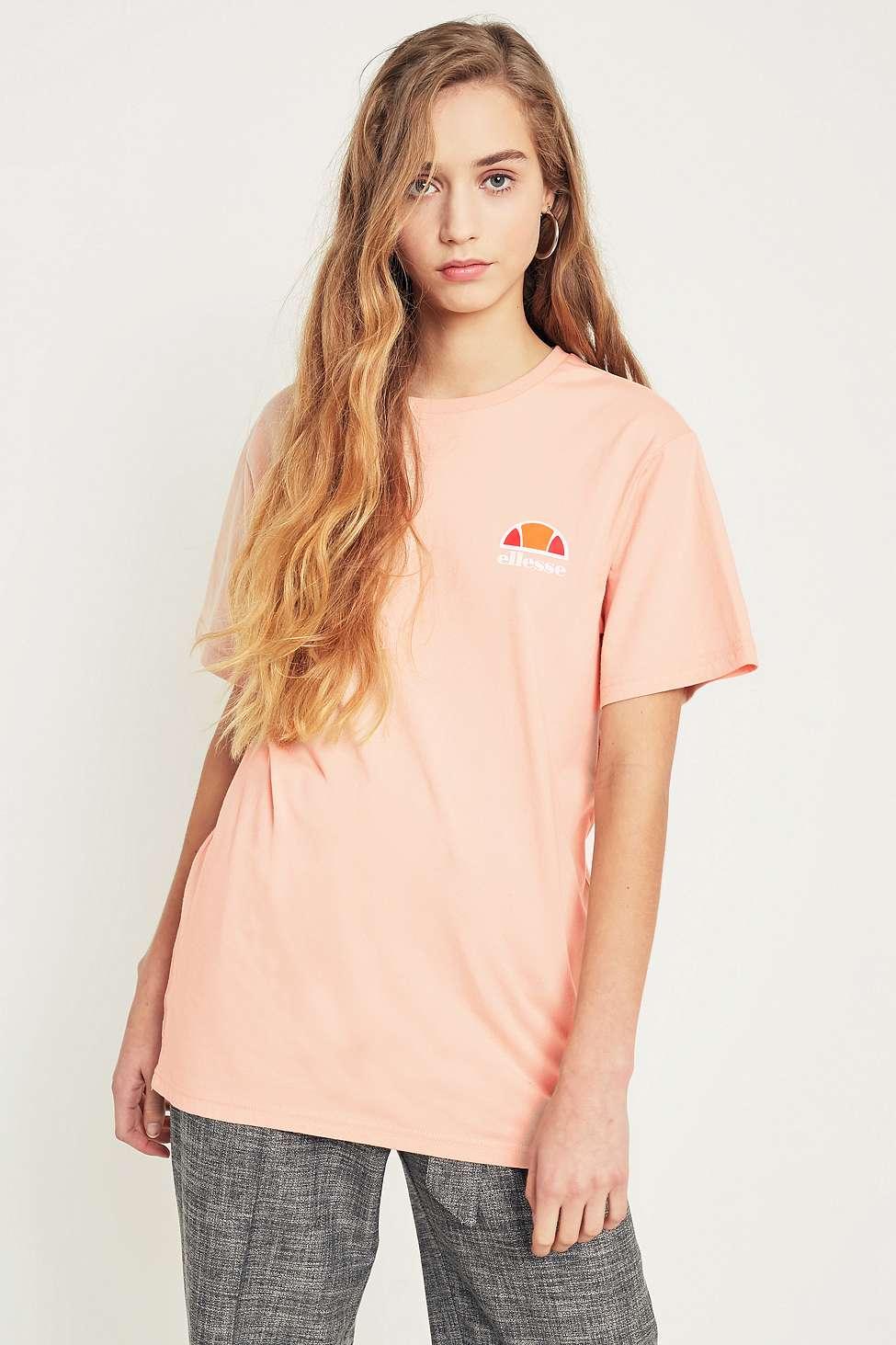 Ellesse Pink Logo T-Shirt, Pink