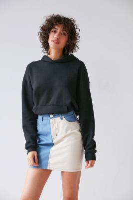 BDG TwoTone Pencil Mini Skirt Light Blue