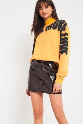 Cooperative by Urban Outfitters - Urban Outfitters Vinyl Pelmet Skirt, Brown