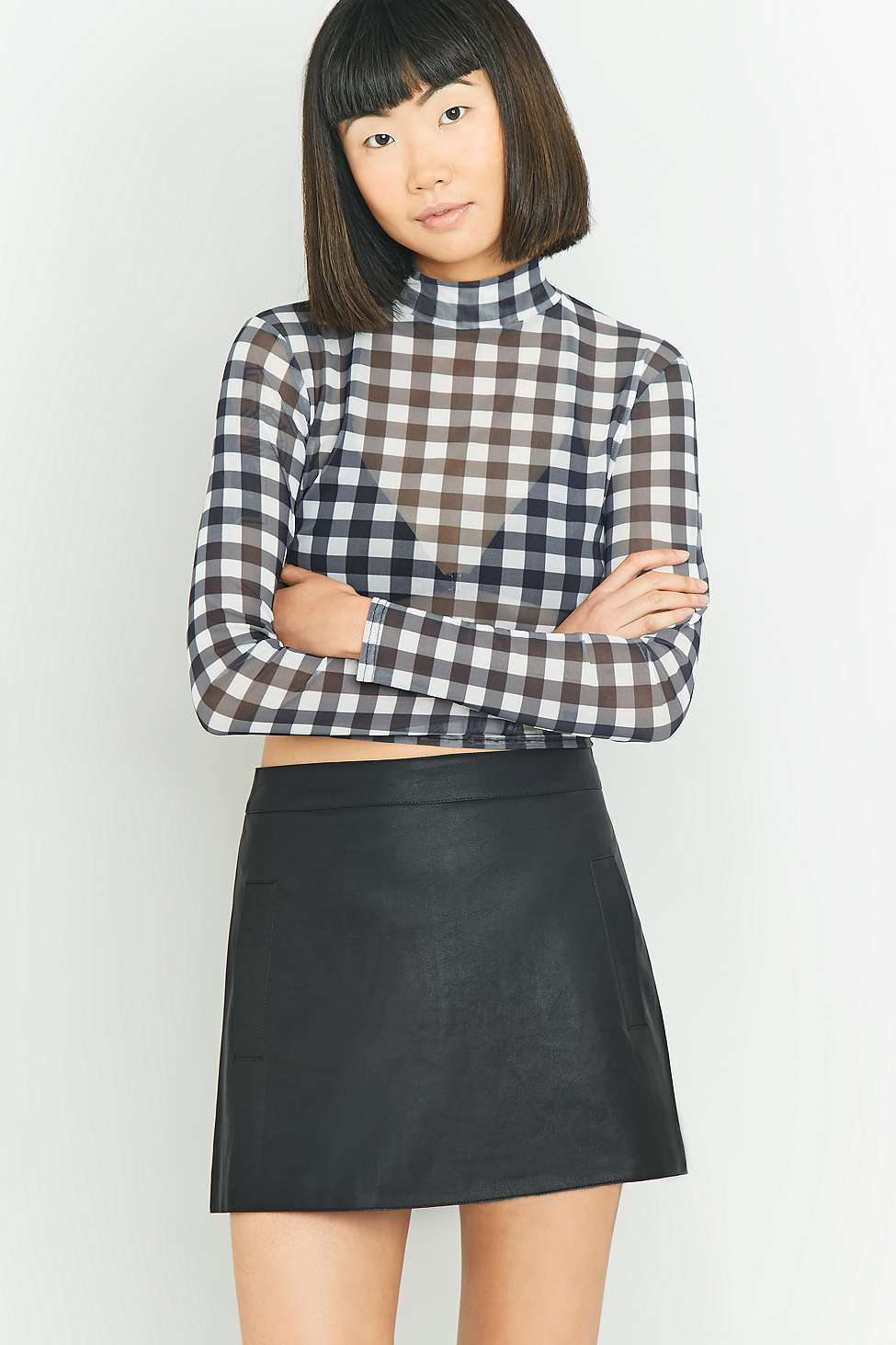 Urban Outfitters Welt Pocket Faux Leather Skirt | Urban Outfitters