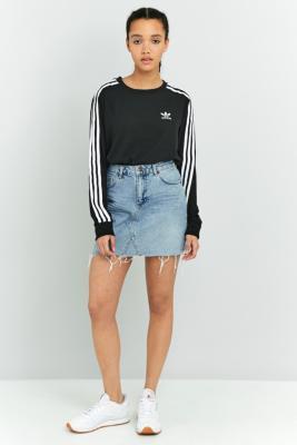 BDG 5Pocket Notched Denim Mini Skirt Light Blue