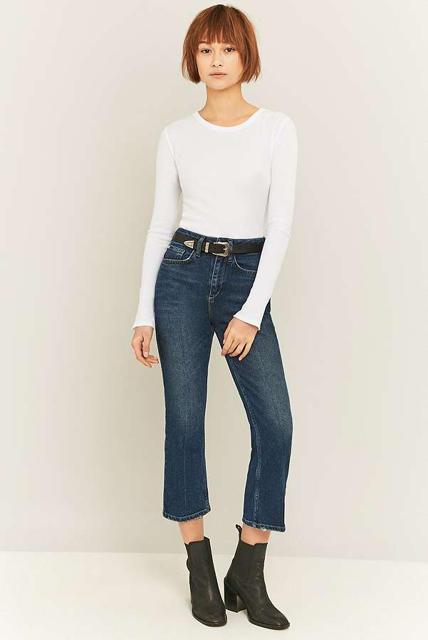 BDG Dark Vintage Blue Kick Flare Jeans | Urban Outfitters