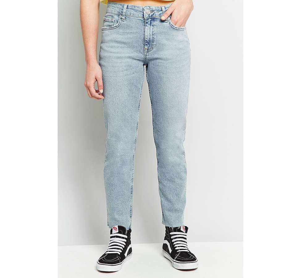 Slide View: 9: BDG Axyl Slim Straight Bleached Jeans