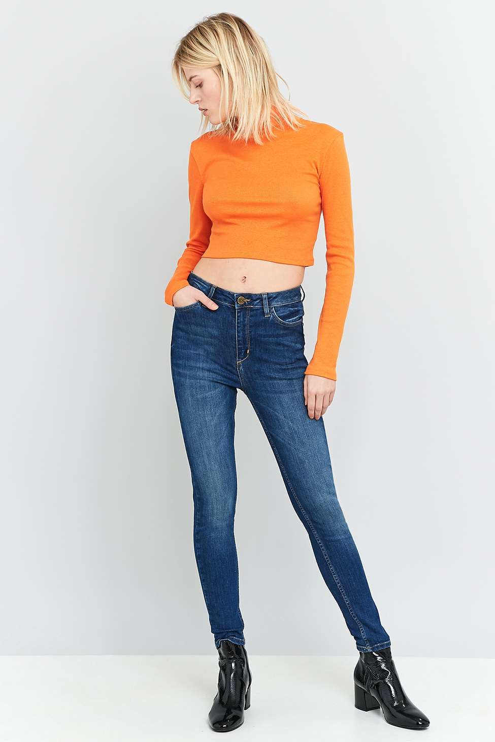 BDG Pine High-Rise Vintage Blue Super Skinny Jeans | Urban Outfitters