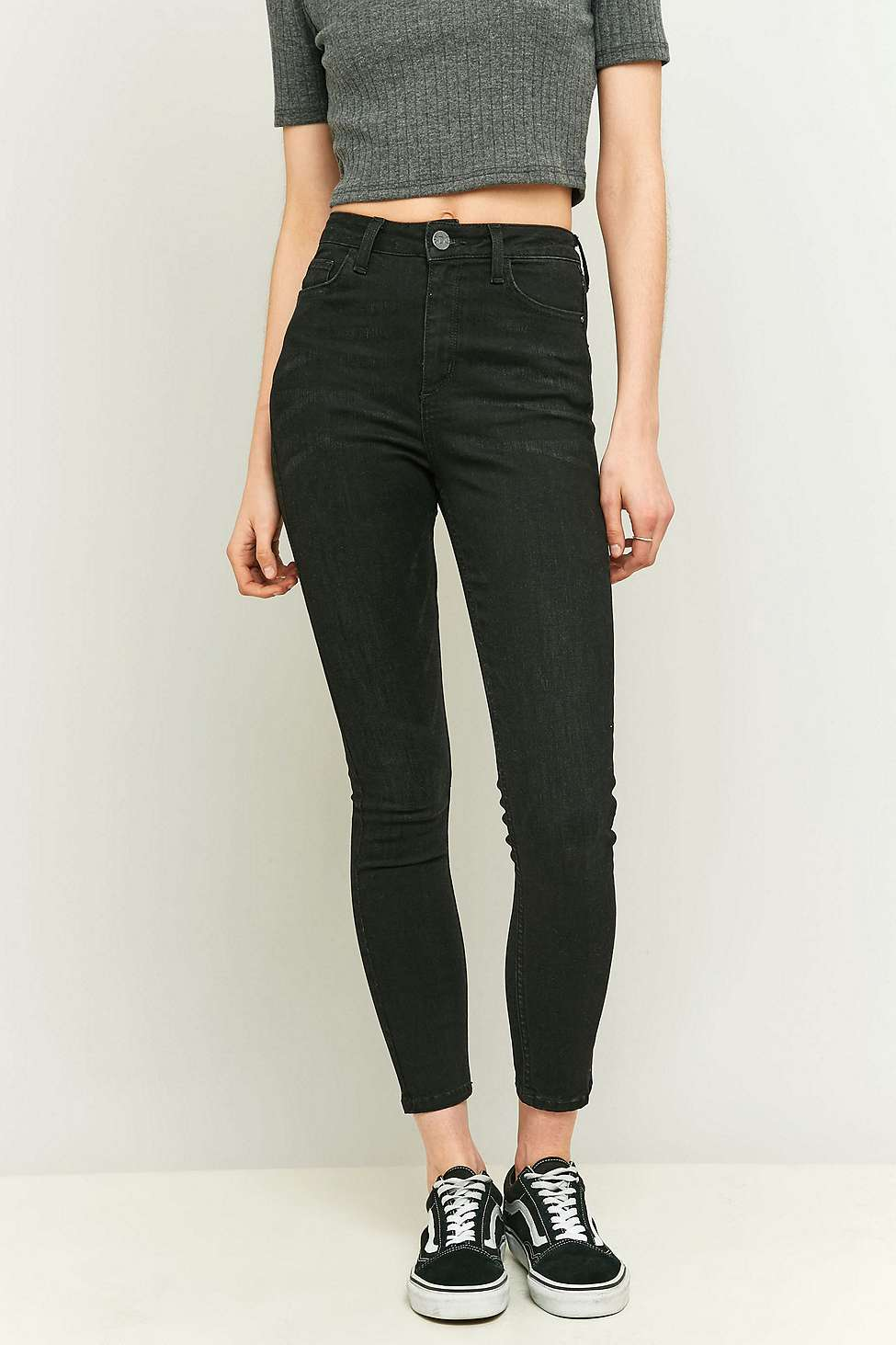 BDG Pine High-Rise Vintage Black Super Skinny Jeans | Urban Outfitters