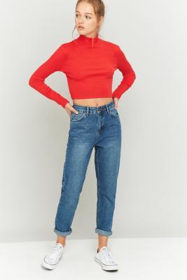 BDG - BDG Dark Vintage Wash Mom Jeans, Indigo