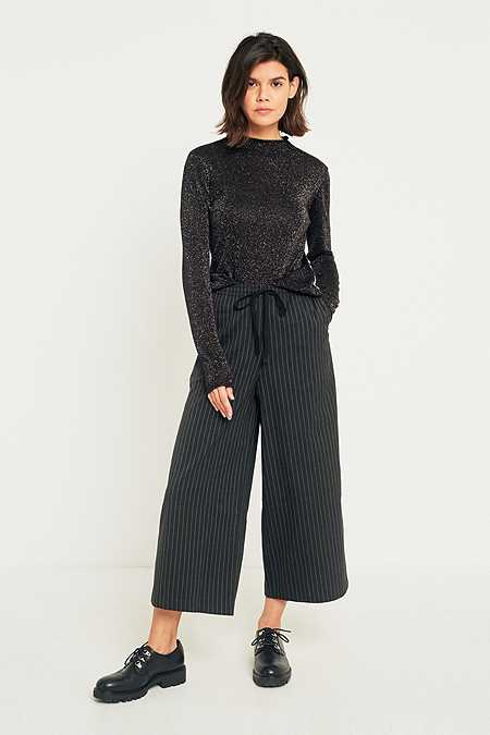 Light Before Dark Pinstripe Pull-On Culottes
