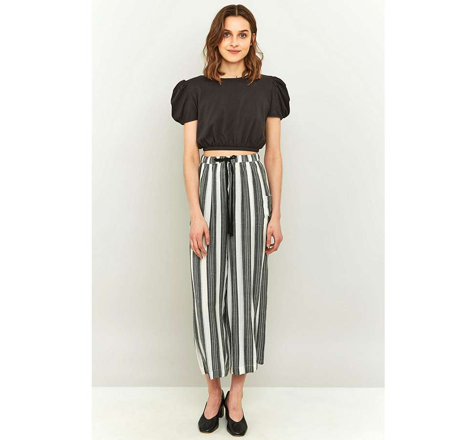 Slide View: 6: Staring At Stars Striped Wide Leg Trousers