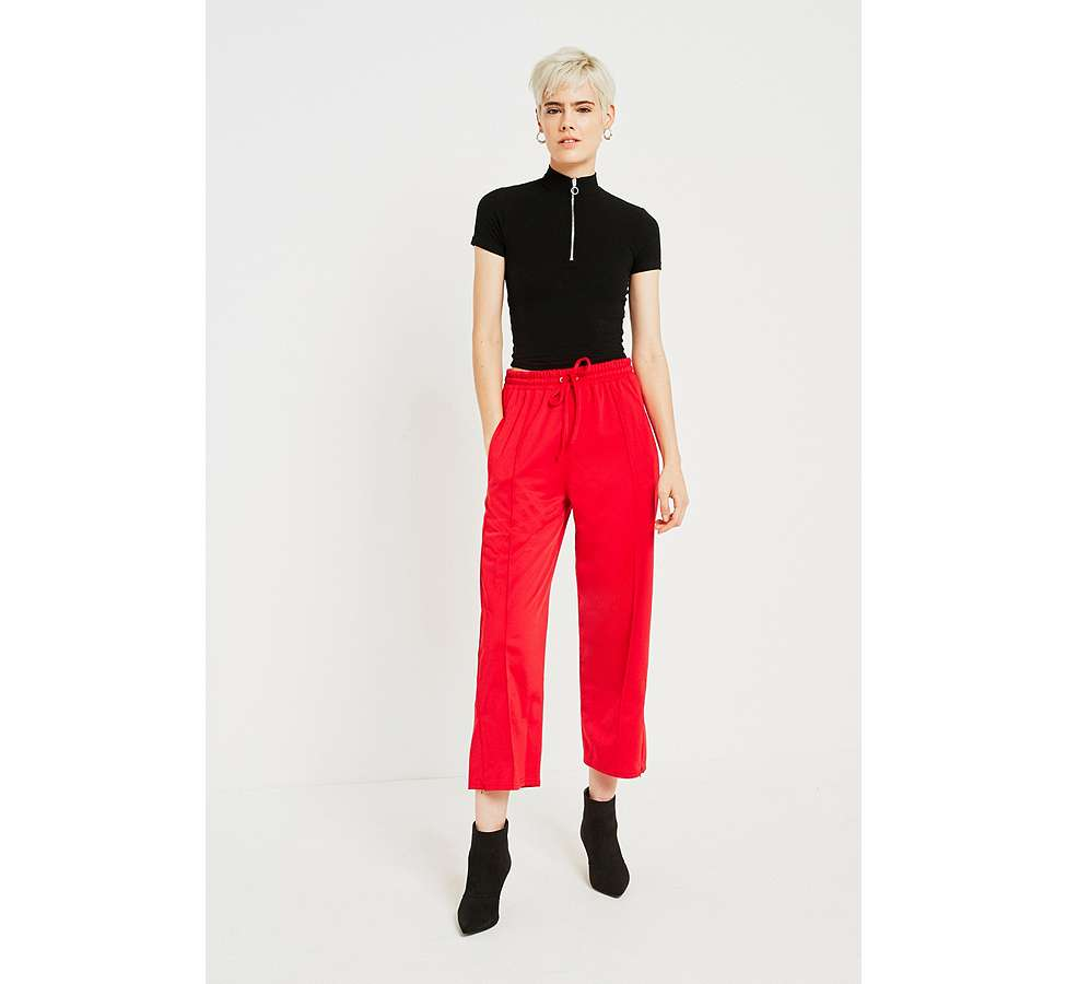 Slide View: 1: BDG Red Track Culottes