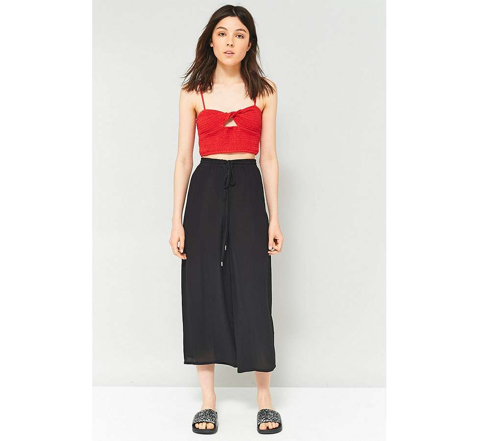 Slide View: 1: Staring At Stars Embroidered Side Culottes