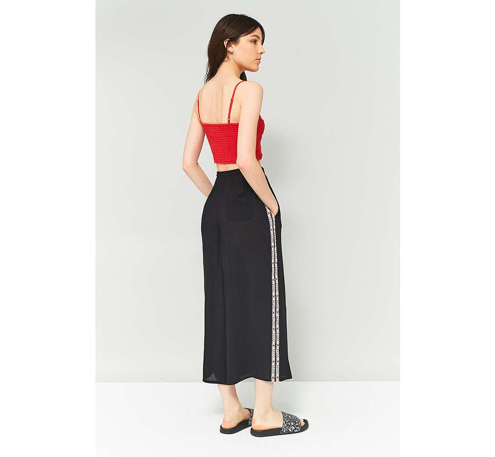 Slide View: 4: Staring At Stars Embroidered Side Culottes
