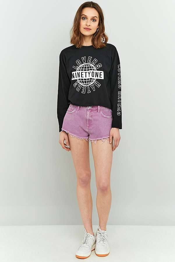 BDG Cheeky Purple Denim Shorts | Urban Outfitters