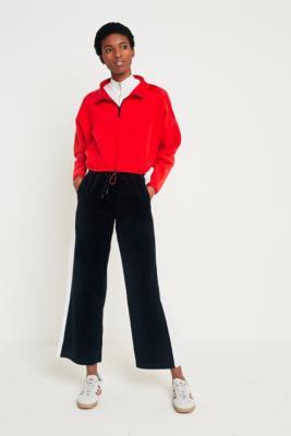 Fila - FILA Ava Wide Leg Side Stripe Trousers, Black