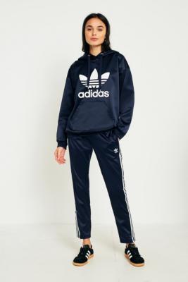 Adidas Originals - adidas Originals Europa Navy Satin Track Trousers, Navy