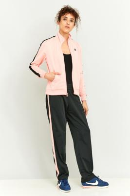Nike Pink and Black Tracksuit Bottoms Black