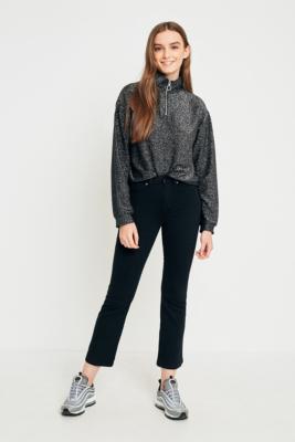 Dr Denim - Dr. Denim Holly Black Crop Flare Jeans, Black