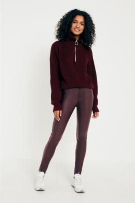 Dr Denim - Dr. Denim Plenty Burgundy Metal Coated Jeans, purple