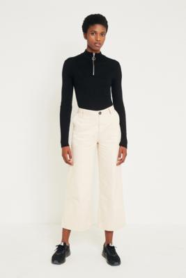 Rolla's - Rolla's Old Mate Ecru Culottes Trousers, Cream