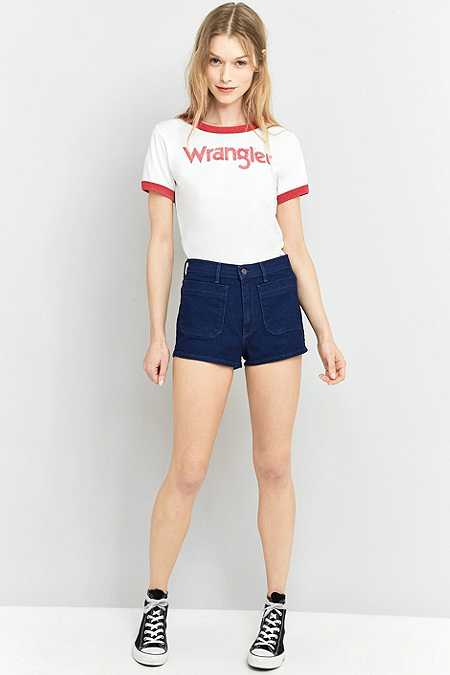 Wrangler – Pin-up-Jeansshorts im Retro-Design