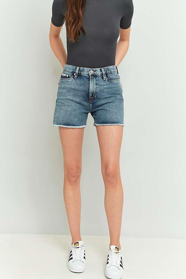 Calvin Klein Cut-Off Blue Denim Shorts | Urban Outfitters