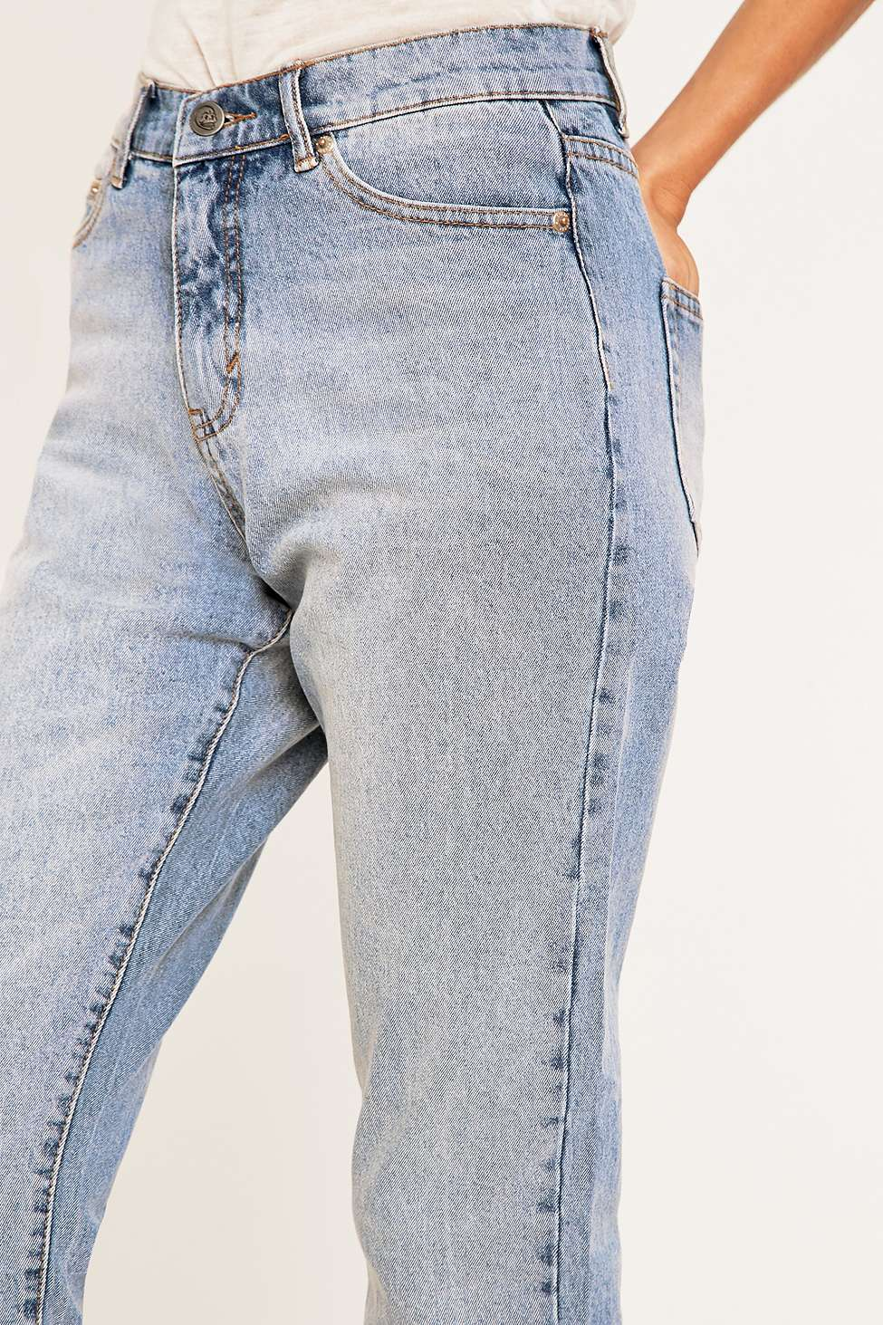 Cheap Monday Donna Mid Blue Straight Leg Jeans | Urban Outfitters