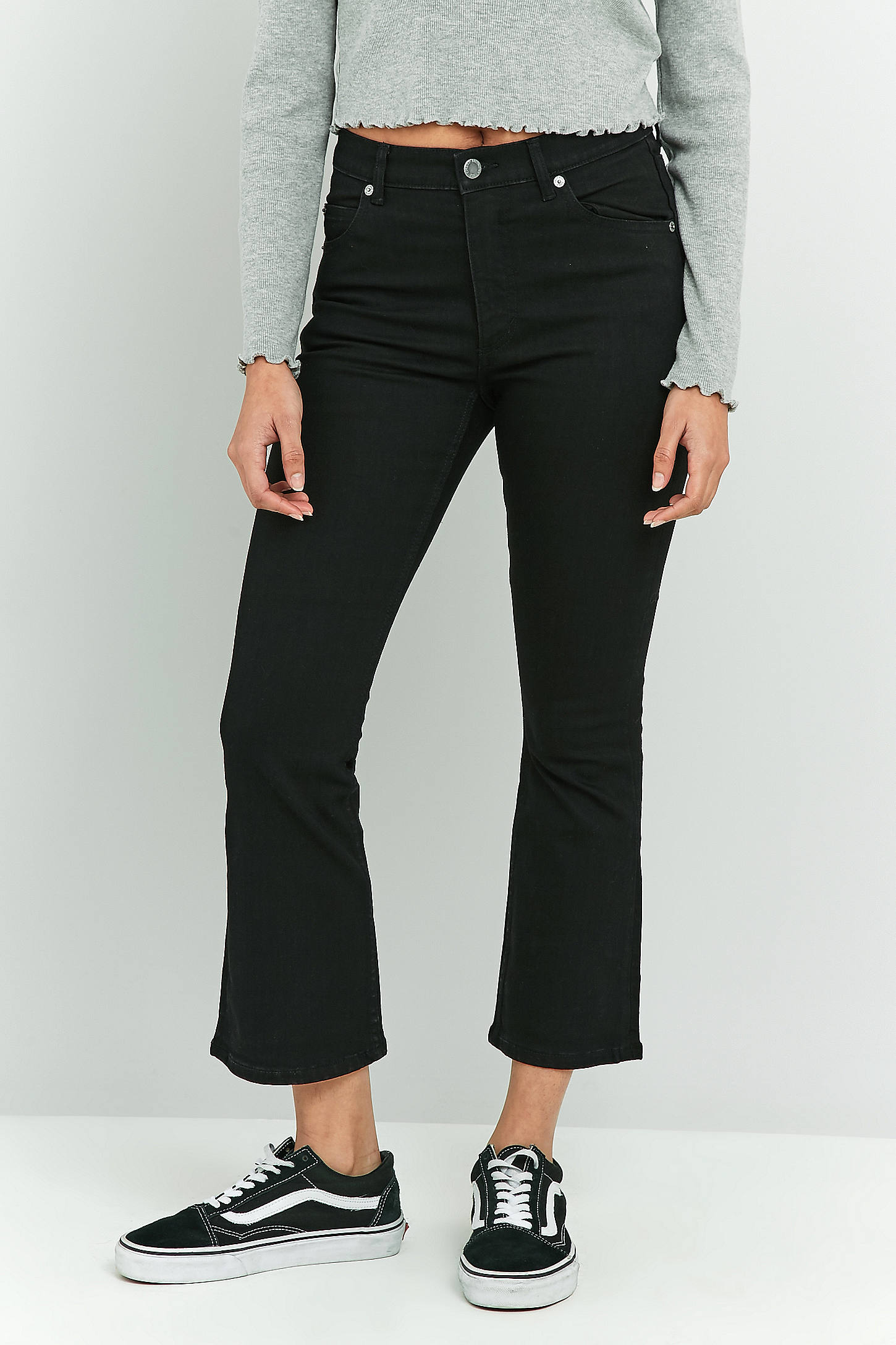 Cheap Monday Black Drift Kick Flare Jeans | Urban Outfitters