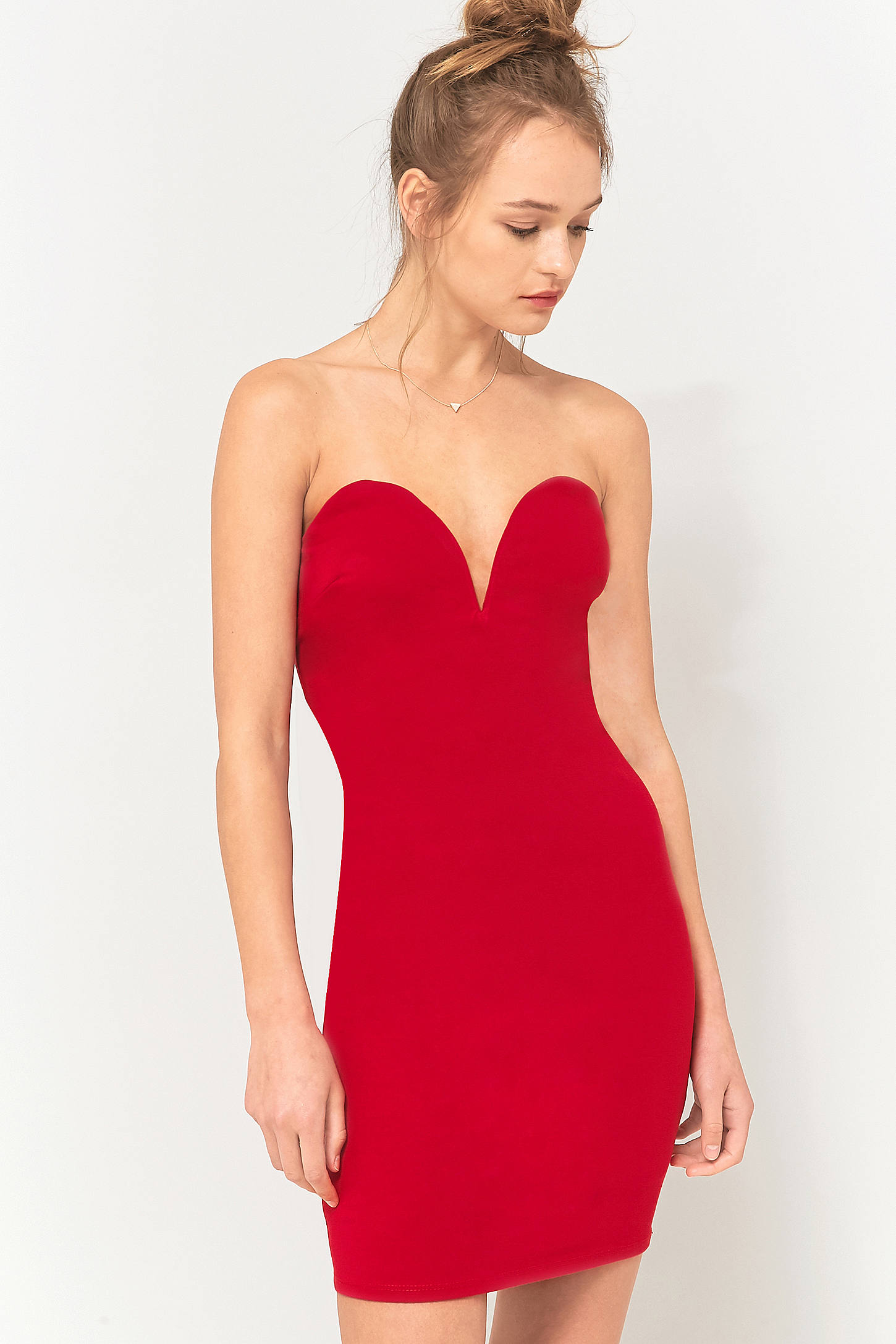 Sparkle & Fade Sweetheart Neckline Strapless Dress | Urban Outfitters