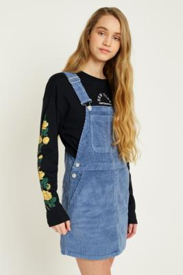 BDG - BDG Corduroy Pinafore Dress, Blue