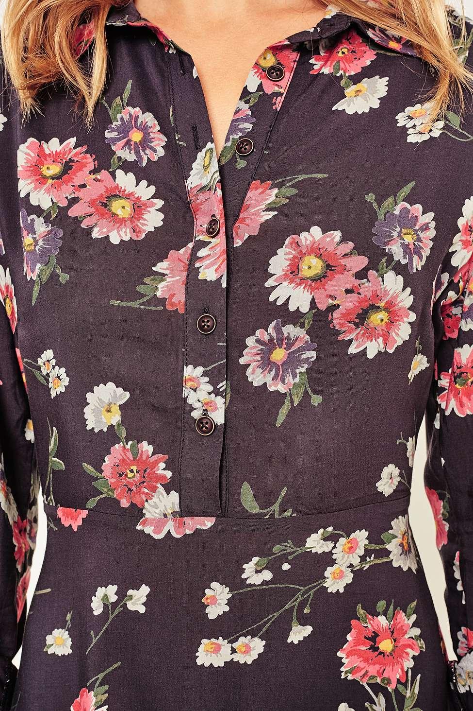 Kimchi Blue Simonetta Floral Maxi Shirt Dress | Urban Outfitters