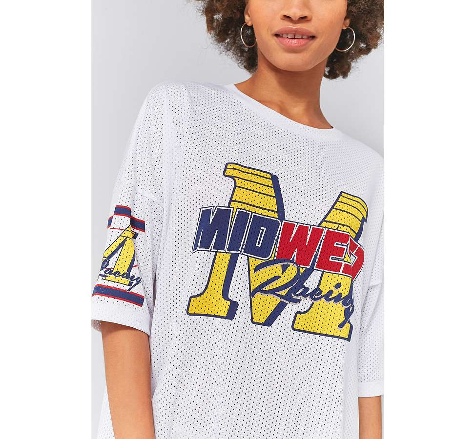 Slide View: 3: Sparkle & Fade Airtex Midwest Racing T-Shirt Dress