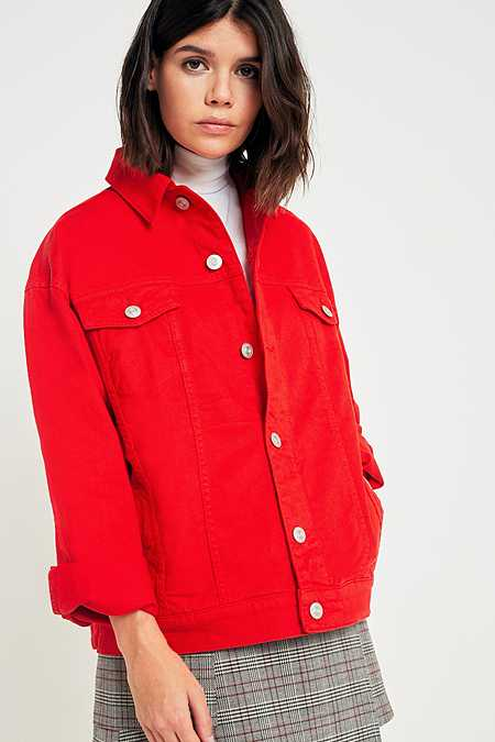 BDG Boyfriend Red Denim Jacket