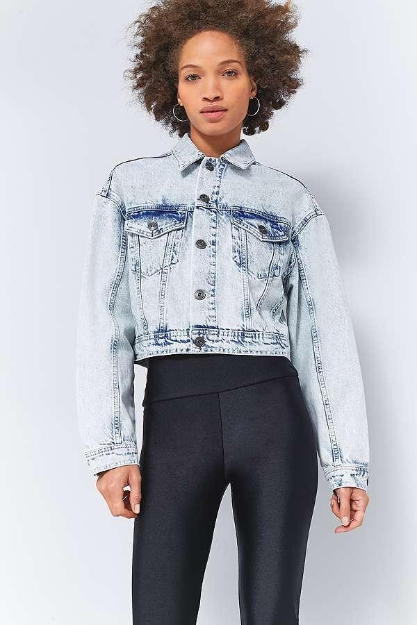 Bdg veste courte en jean d lav e style ann es 80 urban outfitters - Veste annee 80 ...
