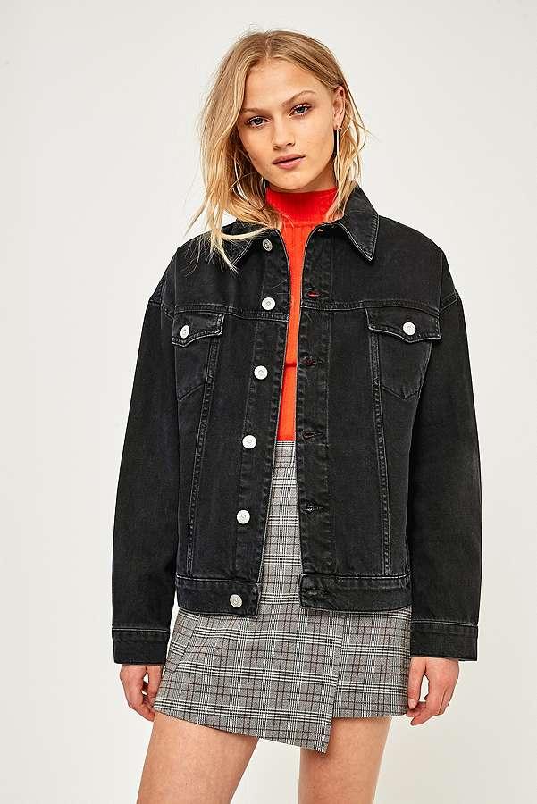 BDG Oversized Black Denim Jacket | Urban Outfitters