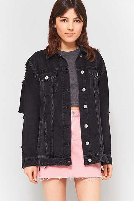 Ladies Black Jean Jacket | Outdoor Jacket