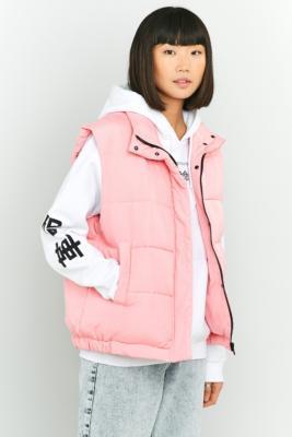 Light Before Dark Sleeveless Cropped Puffer Jacket Pink
