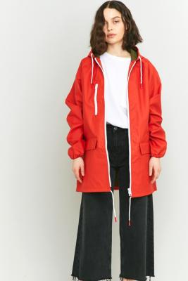 BDG Oversized Fisherman Red Anorak Red